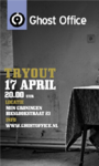 9425 Ghost Office : affiche met try-out optreden in Muziek Organisatie Noord