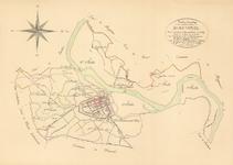 C195 Kaart waarop staat aangegeven de indeling van de kadastrale secties en het nr. van het blad – Schaal 1:10.000, 1819