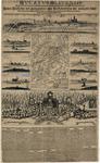 D190 Topografische kaart van het hertogdom Kleef, met rondom stadsgezichten op ...