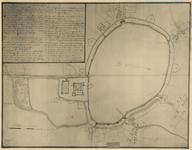 D65 Plattegrond der muren en geprojecteerde vestingwerken van de stad Weert en van de naaste omgeving, met plaats- en ...