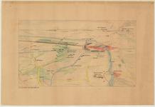 D68 Landkaart in vogelvlucht perspectief van het oorlogsterrein in Midden- en Noord Limburg, 1944