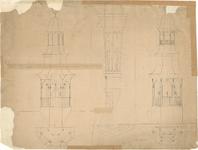 D79 Ontwerpen van een te bouwen toren voor het stadhuis (?), c.1860