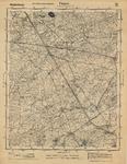 D84 Legerkaart (stafkaart) van het gebied Wessem-Thorn-Neeritter-Schoor-Leveroij-Wessem-Schaal 1:25000, c.1940