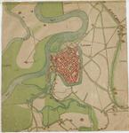 D95 Plattegrond van Roermond en omgeving, Org: c.1550 Cop: 19e eeuw