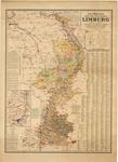 E41 Kaart van limburg met verdeling in gemeenten Schaal 1:140.000 – Met legenda en diverse gegevens, c.1900