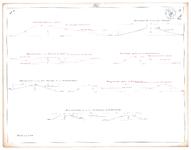 19223-12Z1A [Geen titel] Dwarsdoorsneden van de verplaatste dijken bij Den Doorn, de linker Vechtdijk, de overlaat bij ...