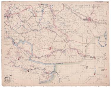 19223-A1.D3 Blad D3 van de algemene kaart van Overijssel. Zuid Twente. Vermeld worden: Hekeren, Wegdam, Weldam, ...
