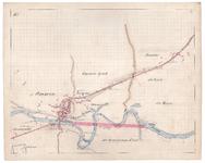 19223-B10.10 [Geen titel] Kaart van de Vecht bij Ommen met voorstel tot afsnijding. Aan de noordzijde: pannenbakkerij, ...