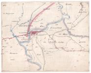19223-B10.18 [Geen titel] Kaart van de Vecht bij Hardenberg. Aan de westzijde zijn te vinden: de Plaggenmars, de ...