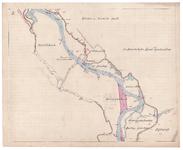 19223-B10.2 [Geen titel] Kaart van de Vecht, tussen Huis Den Doorn en Berkum Bruggenhoek, met een voorstel tot ...
