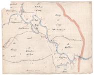 19223-B10.21 [Geen titel] Kaart van de Vecht tussen Gramsbergen en de Duitse grens. Aan de noordzijde zijn te vinden: ...