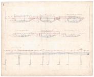 19223-B14.7 [Geen titel] Lengte- en dwarsdoorsneden van de Soestwetering, met voorstellen tot verbetering, ter hoogte ...