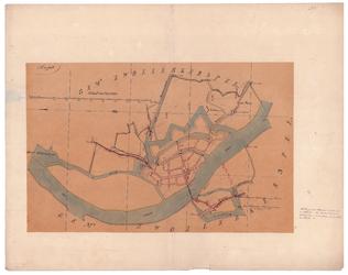 19224-25 Hasselt Kaart van de gemeente Hasselt met rondom de gemeenten Zwollerkerspel, Zwolle. Op de kaart worden ...