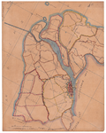 19224-30.1 Kampen 1 Kaart van het noordke deel van gemeente Kampen. Vermeld worden: de Ramspol, Oude Kribbe, ...