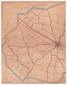 19224-33.1 Lonneker 1 Kaart van het westelijk deel van de gemeente Lonneker met rondom de gemeenten Weerselo, Hengelo ...