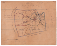 19224-44 Rijssen Kaart van gemeente Rijssen omzoomd door gemeenten Hellendoorn, Wierden, Markelo en Holten. Rechts van ...