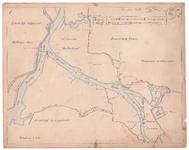 19225-10Z1 [Geen titel] Kaart van de rivieren het Zwarte Water en de Vecht. In een kader: Herziening van 1869-1870. De ...