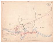 19225-10Z10 [Geen titel] Kaartblad van de Vecht bij Ommen, met daarop met groen ingetekend het sinds 1847 gerealiseerde ...