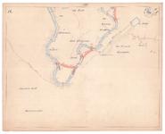 19225-10Z14 [Geen titel] Kaartblad van de Vecht met de voorgestelde afsnijdingen zijn met rood aangegeven. Vermeld ...