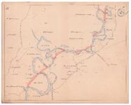19225-10Z17 [Geen titel] Kaartblad van de rivier de Vecht, met in het rood de voorstellen tot afsnijdingen. Vermeld ...
