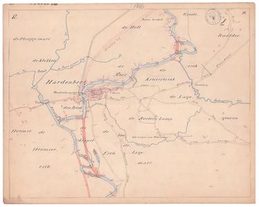 19225-10Z18 [Geen titel] Kaartblad van de rivier de Vecht, met daarop, in rood aangegeven, de voorstellen tot ...