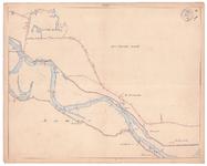 19225-10Z5 [Geen titel] Kaartblad van de Vecht, met daarop met rood ingetekend de Rutenbergerallee van Zwolle naar ...