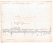 19225-B11.4 [Geen titel] Lengtedoorsnede van de Vecht vanaf het Nieuwe Verlaat bij Berkum tot voorbij De Tempel. ...