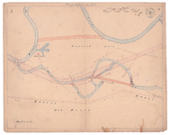 19231-15V1 Staring en Stieltjes. Overijsselse wateren bladz. 17 Kaart van de Regge vanaf de monding van de Vecht tot de ...