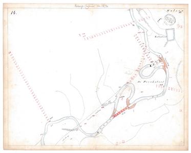 19231-15V14 [Geen titel] Kaartblad van de Regge ten noordoosten van Hellendoorn ter hoogte van Hulsen. Vermeld worden: ...