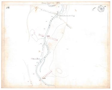 19231-15V16 [Geen titel] Kaartblad van de Regge tussen Hellendoorn en Nijverdal met de Hellendoornse brug in de weg van ...