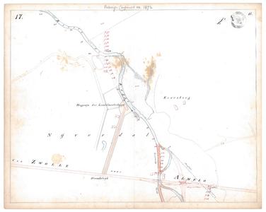 19231-15V17 [Geen titel] Kaartblad van de Regge ter hoogte van het industrieterrein van Nijverdal, met ontwerp voor ...