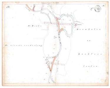 19231-15V18 [Geen titel] Kaartblad van de Regge tussen Nijverdal en Holten. In rood cijfers van hoogtemetingen en in ...