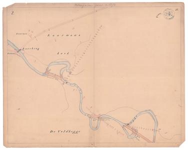 19231-15V2 [Geen titel] Kaartblad van de Regge, vanaf de Laarbrug tot het Onderland bij de Wolfskuil, met ontwerp voor ...