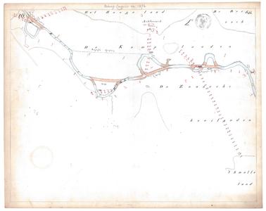 19231-15V20 [Geen titel] Kaartblad van de Regge ten noorden van Rijssen, bij de Kamplanden, met ontwerp voor ...