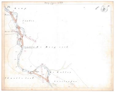 19231-15V21 [Geen titel] Kaartblad van de Regge ter hoogte van Zuna en Notter, ten noorden van Rijssen, met ontwerp ...
