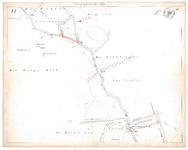19231-15V22 [Geen titel] Kaartblad van de rivier de Regge bij Rijssen, ter hoogte van de huidige spoorweg, met ontwerp ...