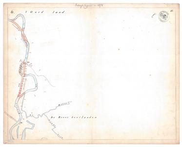 19231-15V6 [Geen titel] Kaartblad van de Regge ten westen van Den Ham, met een ontwerp voor te maken afsnijdingen. Aan ...