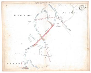 19231-15V7 [Geen titel] Kaartblad van de Regge ten westen van Den Ham en ten noordoosten van Lemele. Aan de westzijde: ...