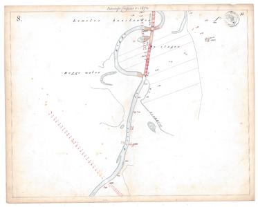 19231-15V8 [Geen titel] Kaartblad van de Regge ten oosten van Lemele, met een ontwerp voor een te maken afsnijding. Aan ...