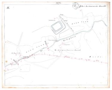 19231-17Y11 [Geen titel] Kaartblad van de oude Schipbeek ter hoogte van Loo met Landweerbrug, Schepersbrug ...