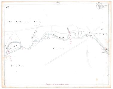 19231-17Y12 [Geen titel] Kaartblad van de Oude Schipbeek ten zuidwesten van Holten, tussen Coolewee en Boterbeek, met ...