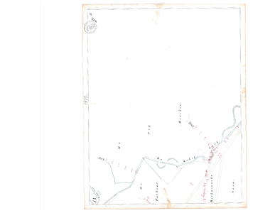 19231-17Y13 [Geen titel] Kaartblad van de Oude Schipbeek ten zuidwesten van Holten, ten noorden van de huidige A1. Met ...