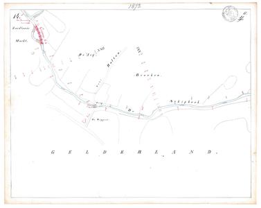 19231-17Y14 [Geen titel] Kaartblad van de Oude Schipbeek en de Schipbeek ten zuidwesten van Holten, tussen de huidige ...