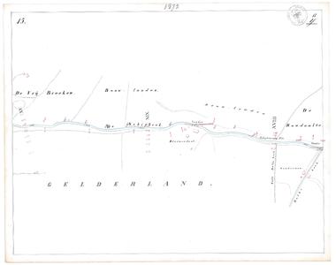 19231-17Y15 [Geen titel] Kaartblad van de Schipbeek ten zuiden van Holten, tussen de huidige N332 en de Bolksbeek. Op ...
