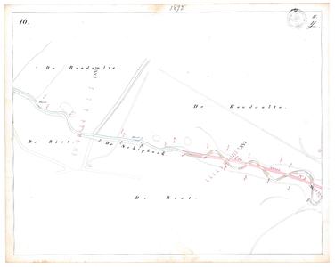 19231-17Y16 [Geen titel] Kaartblad van de Schipbeek ten zuiden van Holten en ten oosten van de Bolksbeek, met ontwerp ...