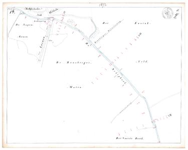 19231-17Y19 [Geen titel] Kaartblad van de Schipbeek ten zuiden van Markelo. Op de kaart zijn te vinden: Weg van Lochem ...