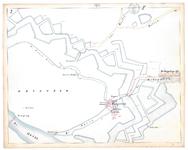 19231-17Y2 [Geen titel] Kaartblad met de IJssel, de stadsgracht van Deventer en de monding van de Schipbeek. Vermeld ...
