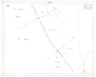 19231-17Y20 [Geen titel] Kaartblad van de Schipbeek ten zuidwesten van Stokkum. Vermeld worden: Het Voorste Broek, De ...