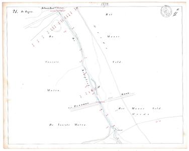 19231-17Y21 [Geen titel] Kaartblad van de Schipbeek ten zuiden van Stokkum, ter hoogte van het huidige Twentekanaal. Op ...