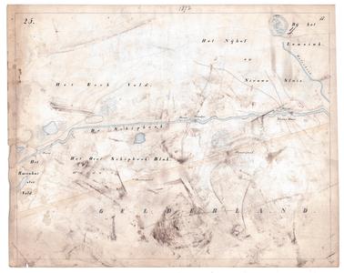 19231-17Y25 [Geen titel] Kaartblad van de Schipbeek ten zuidoosten van Diepenheim met de Nieuwe Sluis, voorden en ...